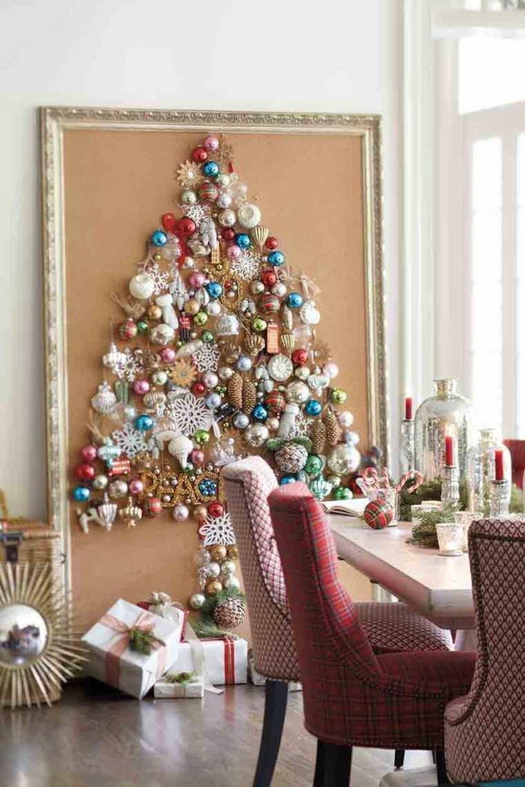 marco cuadro abeto bolas navidad
