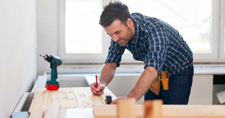 medir superficie trabajo tablas madera