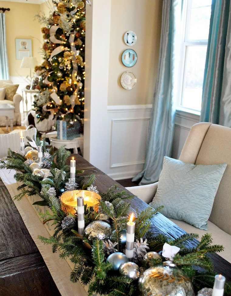 centros de navidad para decorar la mesa con estilo. Black Bedroom Furniture Sets. Home Design Ideas