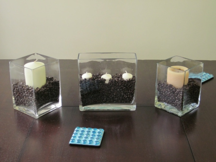mesa con velas interior