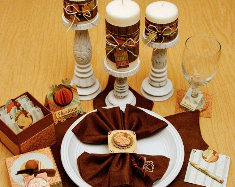 mesa con velas