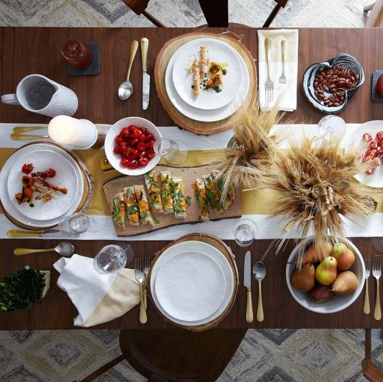 mesa decorada espigas trigo