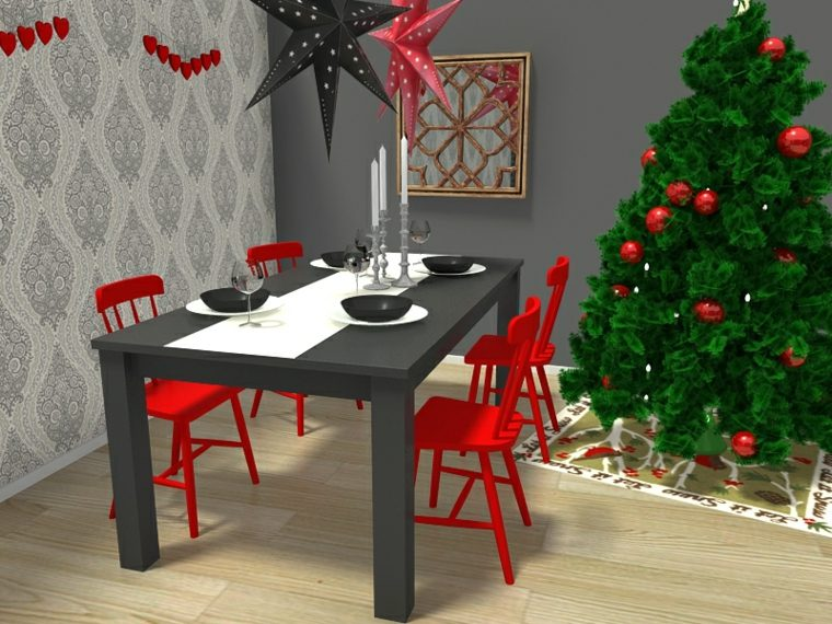 mesas decoradas para navidad interior with decorado para navidad