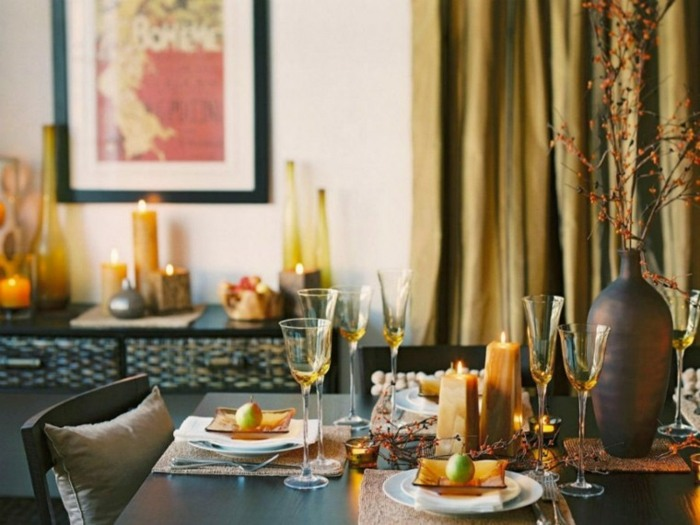 mesas el otoño velas ambientaciones colores