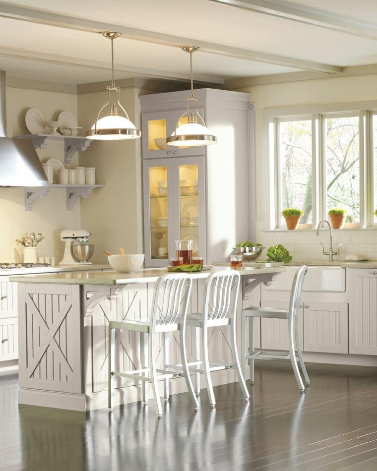 Muebles de cocina 36 ideas para un estilo campestre moderno for Ideas diseno cocina
