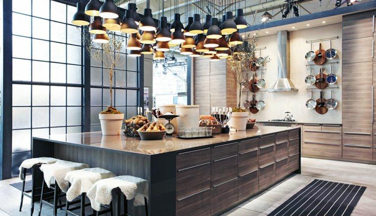 Muebles de cocina 36 ideas para un estilo campestre moderno Muebles estilo contemporaneo moderno