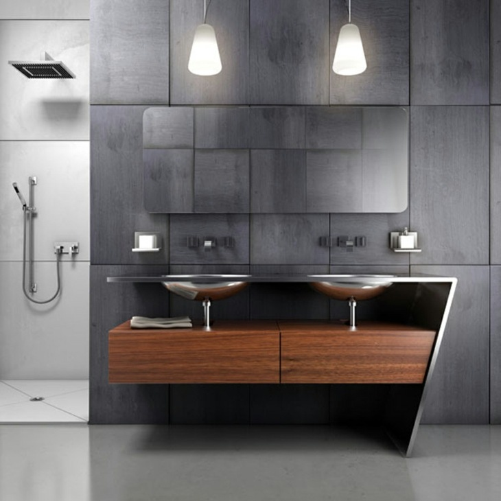 modernos cabinetes pequenos salones ducha