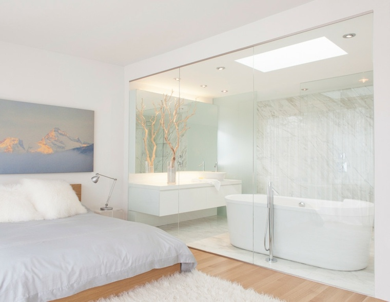 Tocadores y lavabos flotantes para el cuarto de ba o - Mueble lavabo blanco ...