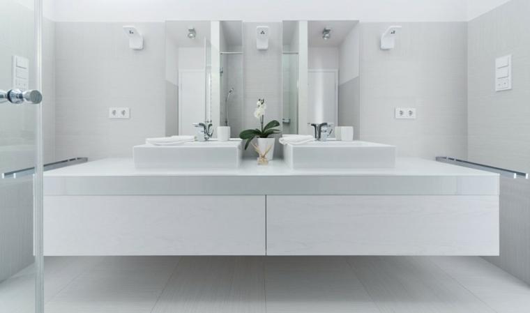 Tocadores y lavabos flotantes para el cuarto de ba o for Meuble minimaliste