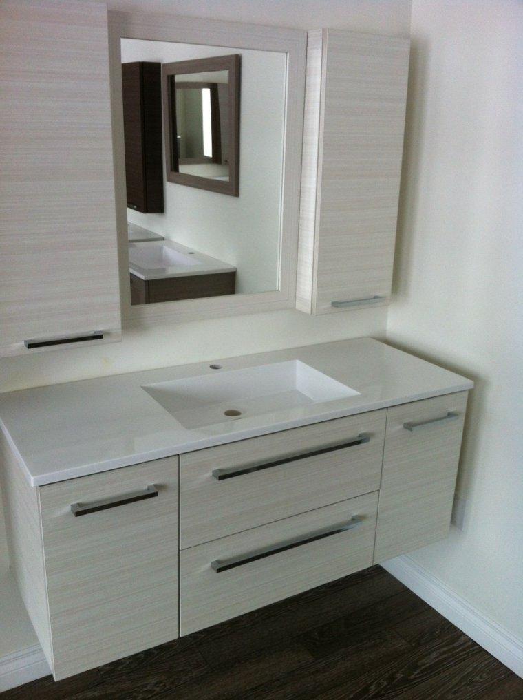 Tocadores y lavabos flotantes para el cuarto de ba o - Mueble lavabo pequeno ...