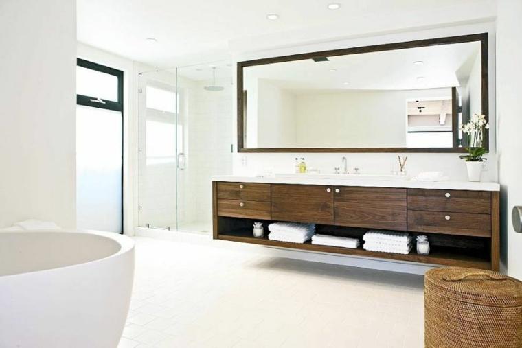 mueble lavabo madera cajones lavabos