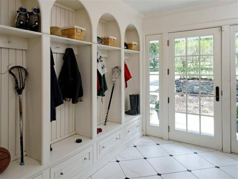 mueble recibidor integrado estilo retro