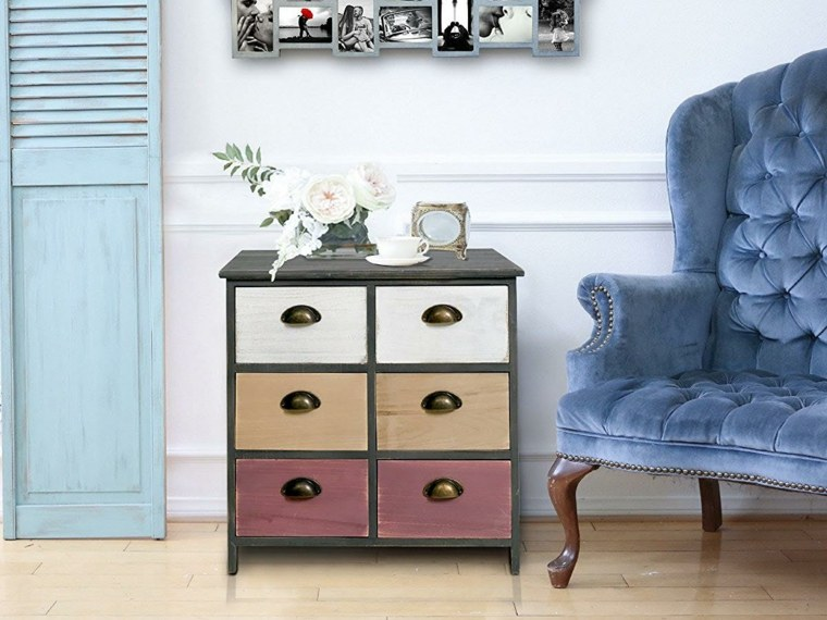 Como combinar muebles antiguos con accesorios modernos - Pintar muebles lacados ...