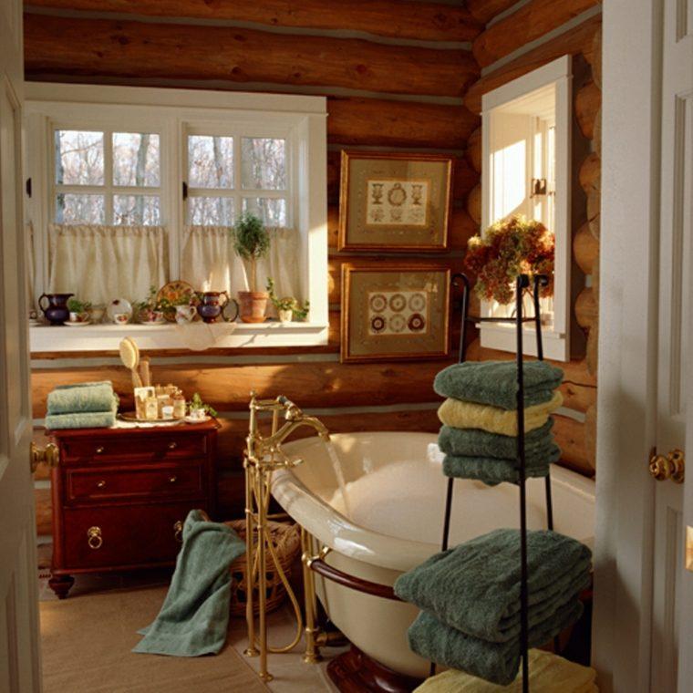 muebles de baños rústicos interior