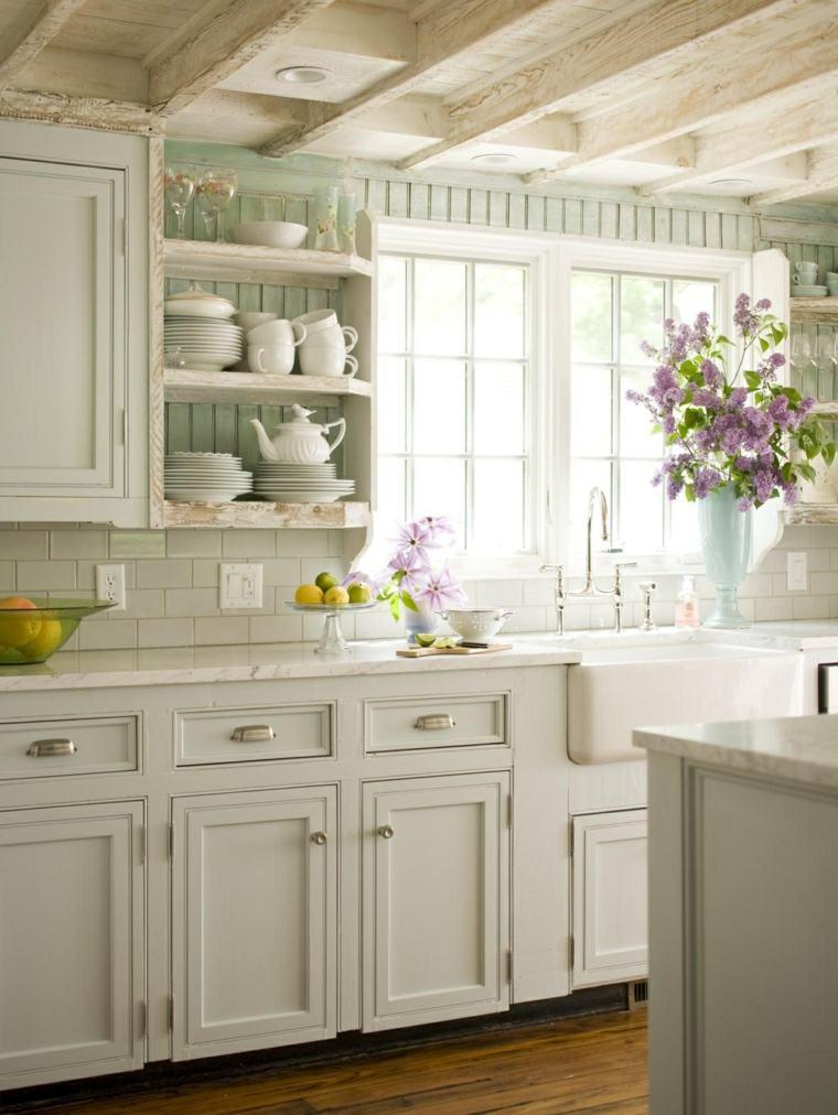 muebles de cocina estilo moderno campestre blancos muebles ideas