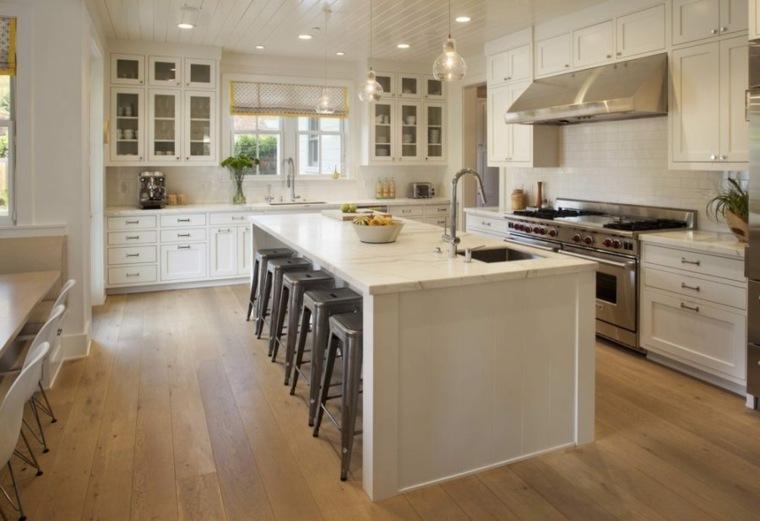 muebles de cocina estilo moderno campestre colores crema muebles ideas