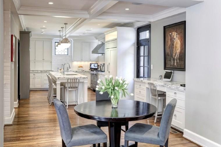 muebles de cocina estilo moderno campestre comedor diseno ideas