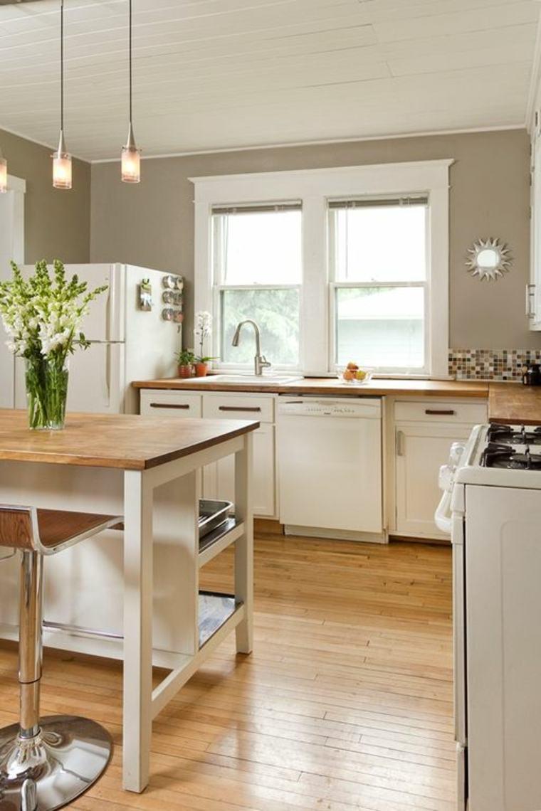 muebles de cocina estilo moderno campestre comtemporaneo combiancion ideas