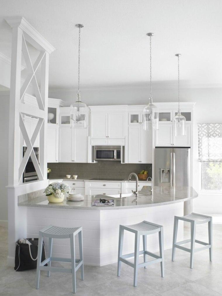 muebles de cocina estilo moderno campestre diseno blanco ideas