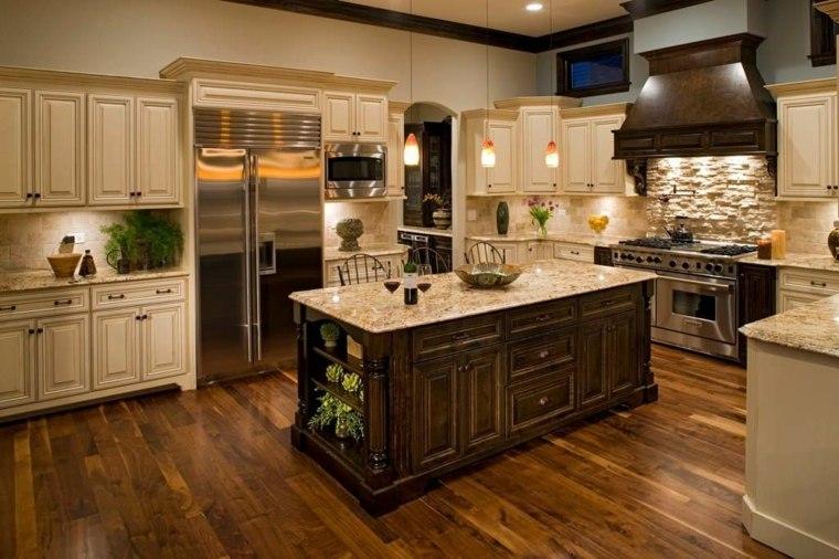 muebles cocina estilo moderno campestre iluminacion bellas ideas