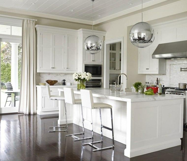 muebles cocina estilo moderno campestre lamparas brillantes ideas