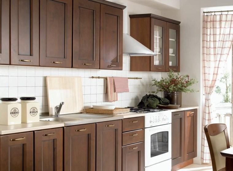 Muebles de cocina 36 ideas para un estilo campestre moderno for Muebles de cocina de madera modernos