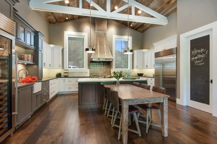 muebles cocina estilo moderno campestre mesa comedor ideas