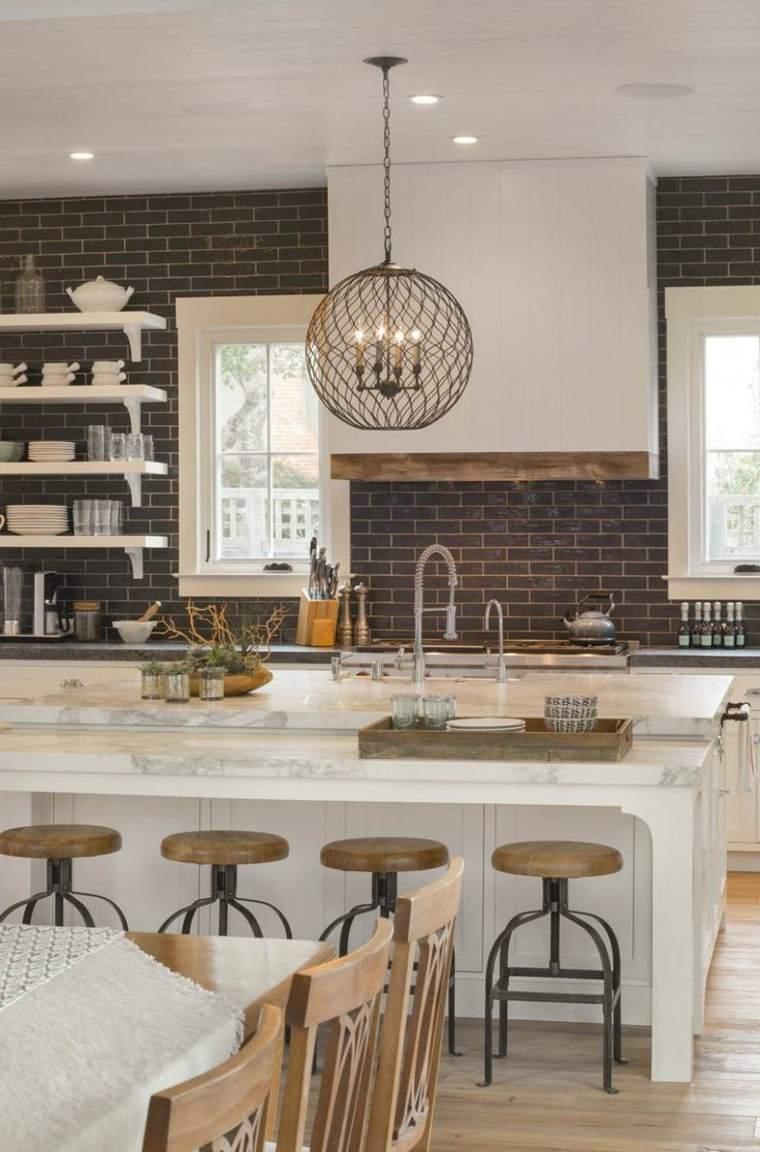 Muebles De Cocina 36 Ideas Para Un Estilo Campestre Moderno # Muebles De Cozina