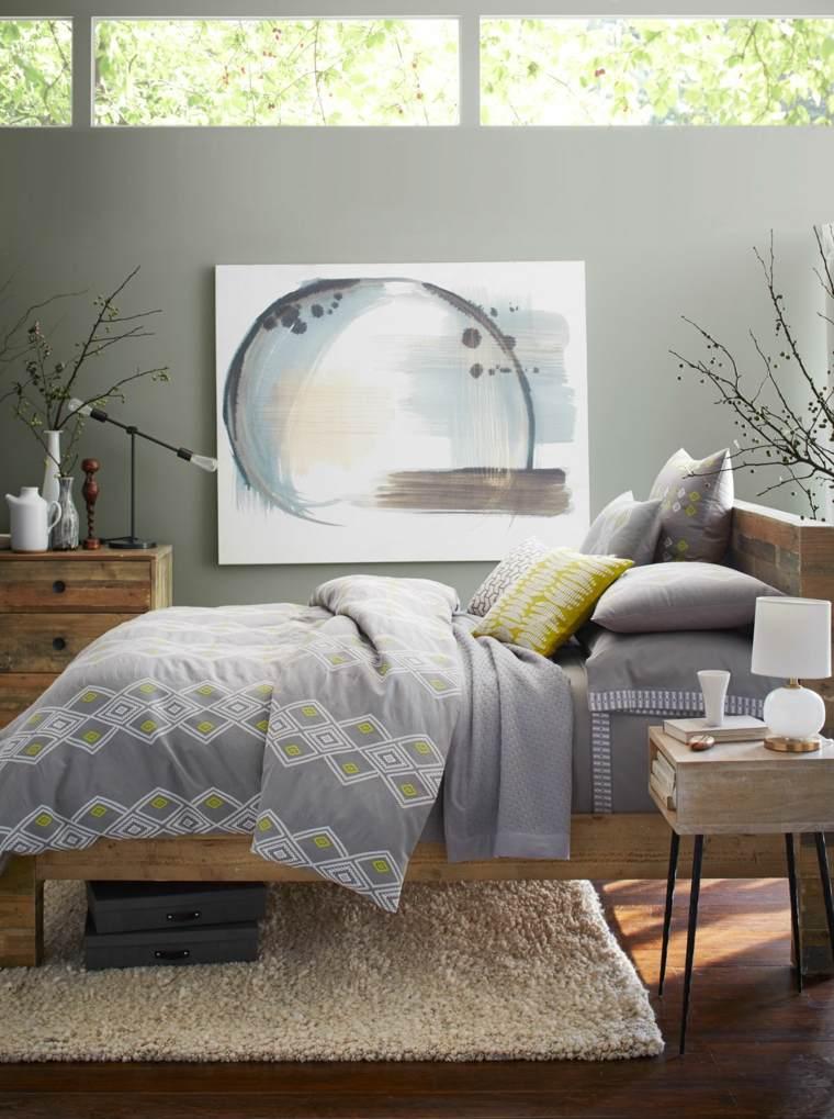 muebles de madera cama grande dormitorio ideas