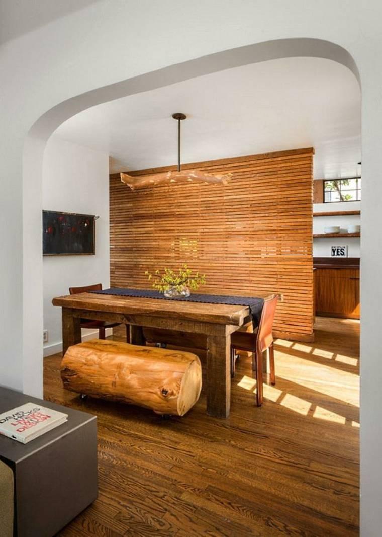 Muebles de madera para un dise o muy natural - Muebles en madera natural ...