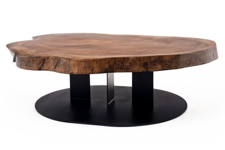 muebles de madera mesita cafe moderna lacada ideas