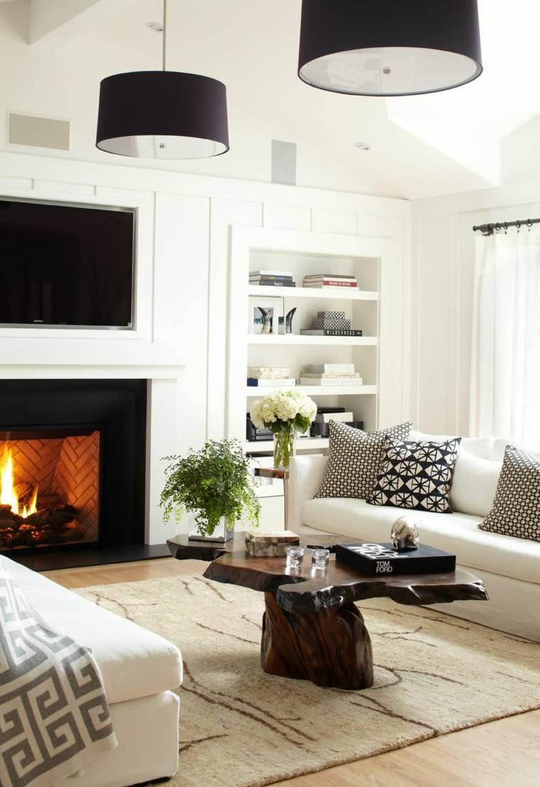 Muebles de madera para un dise o muy natural - Muebles salon madera ...