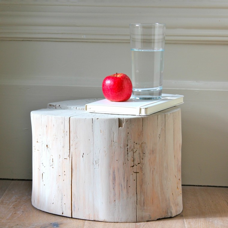 muebles de madera mesita madera color claro ideas