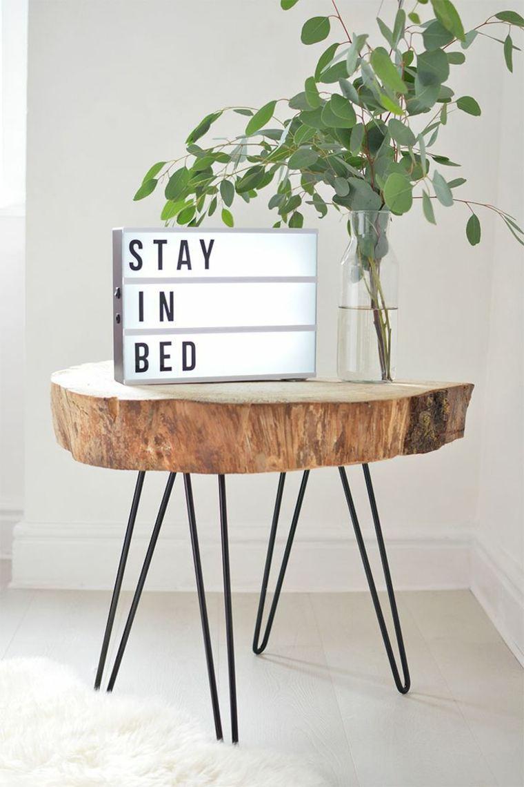 Muebles de madera para un diseño muy natural