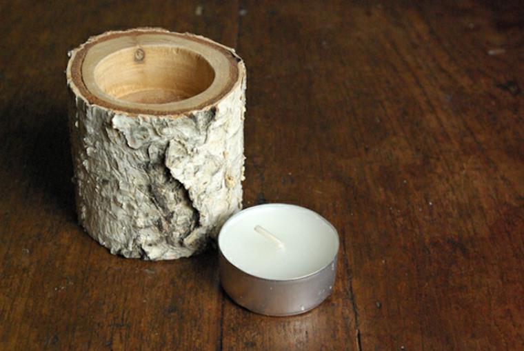 muebles madera mesita portavelas pequeno ideas