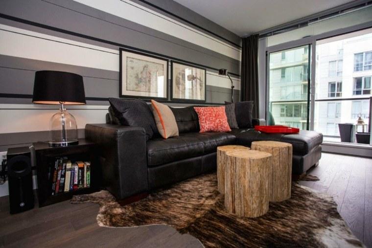 muebles madera mesita sofa estilo diseno ideas