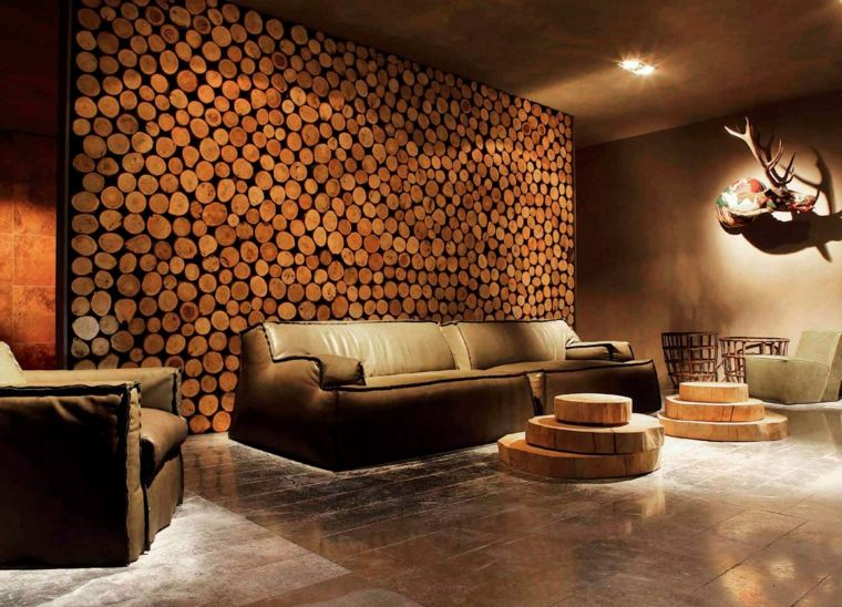 Muebles de madera para un dise o muy natural - Muebles con troncos ...