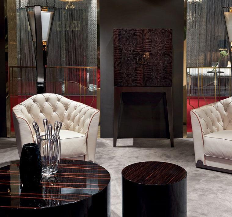 muebles madera mesitas lacadas salon diseno ideas