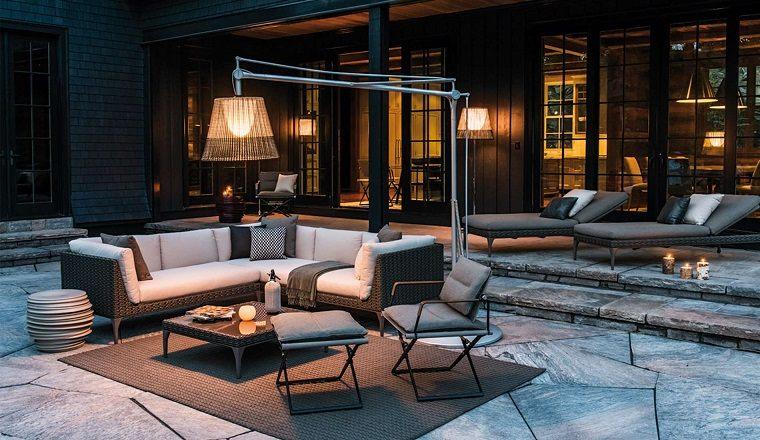 muebles modernos porche diseno original ideas