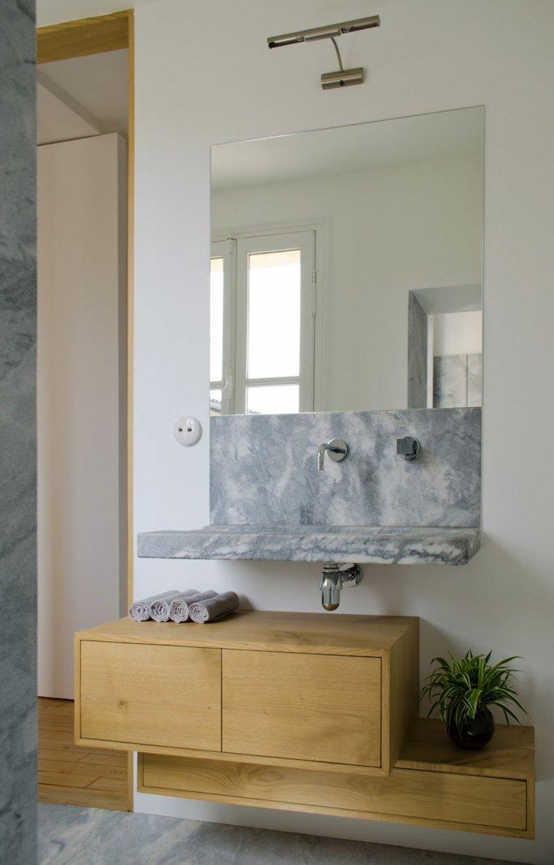 muebles suspendidos bano marmol espejos