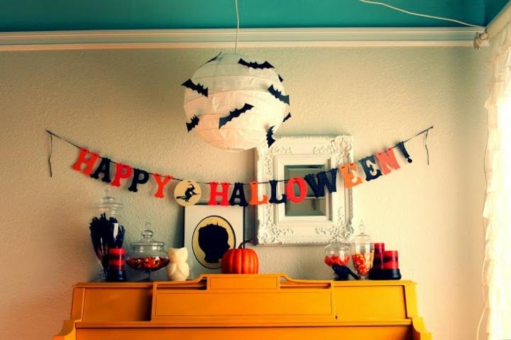 murcielagos colores guirnaldas especiales fiestas