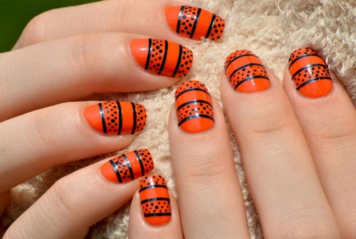 naranja negro elegante combinaciones maneras