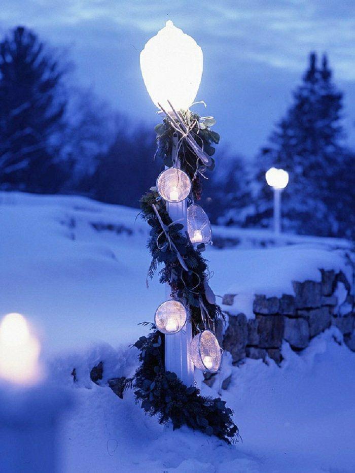 navidad iluminacion exterior coladores diy