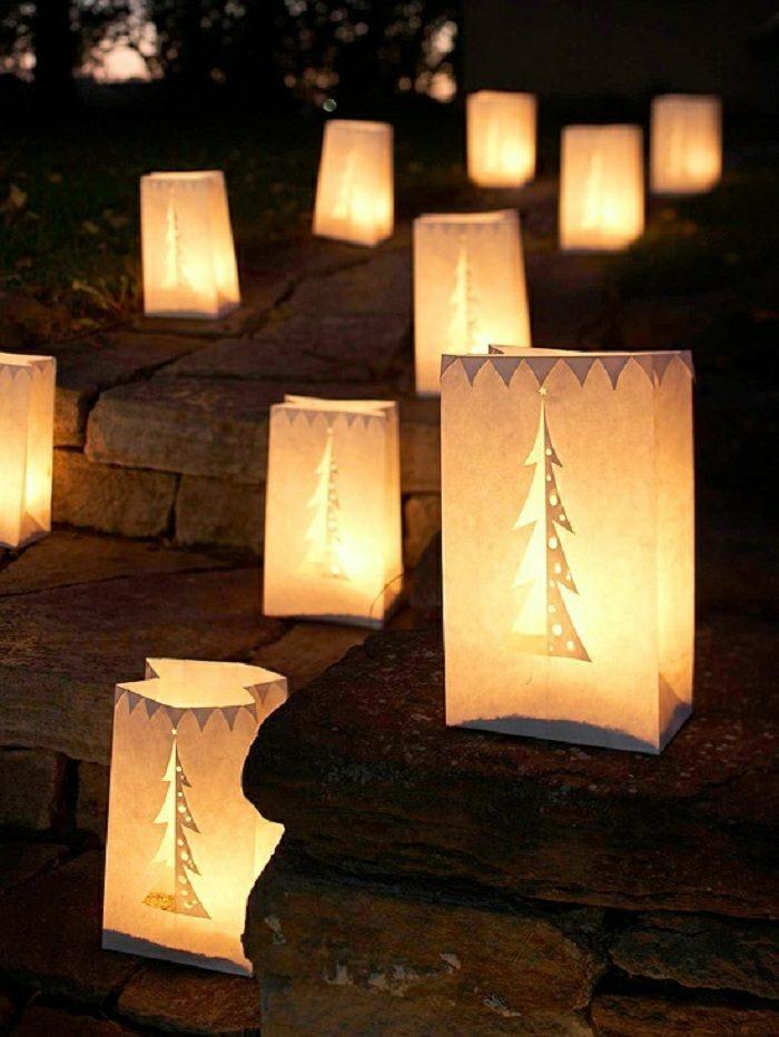 navidad iluminacion exterior senderos ideas escaleras