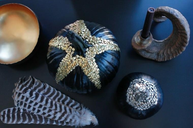 negras metalicos elegantes tachuelas pequeñas