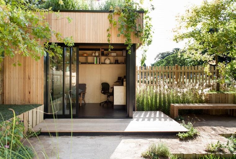 oficina jardin contemporaneo diseno exterior ideas