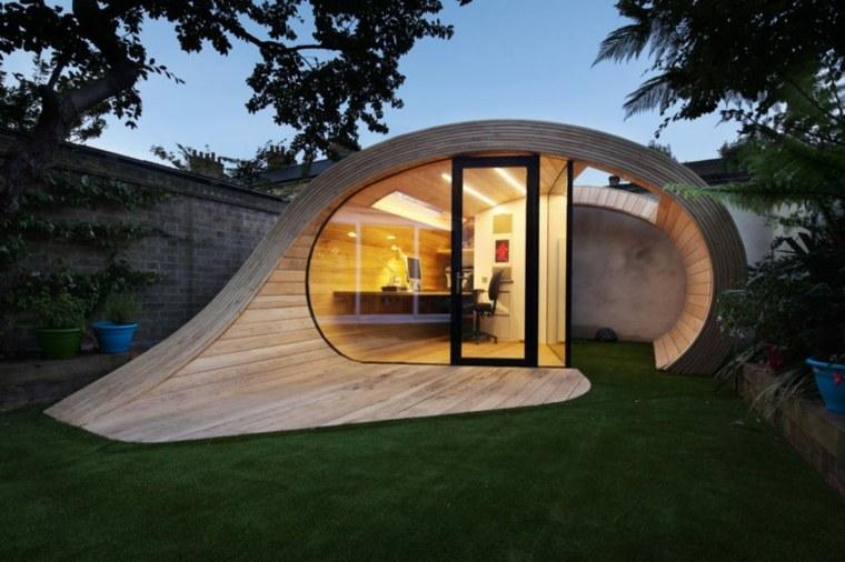 oficinas modernas jardin diseno platform 5 architects ideas
