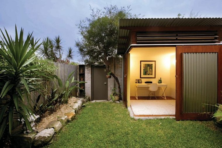 oficinas modernas jardin diseno cerca entrada ideas