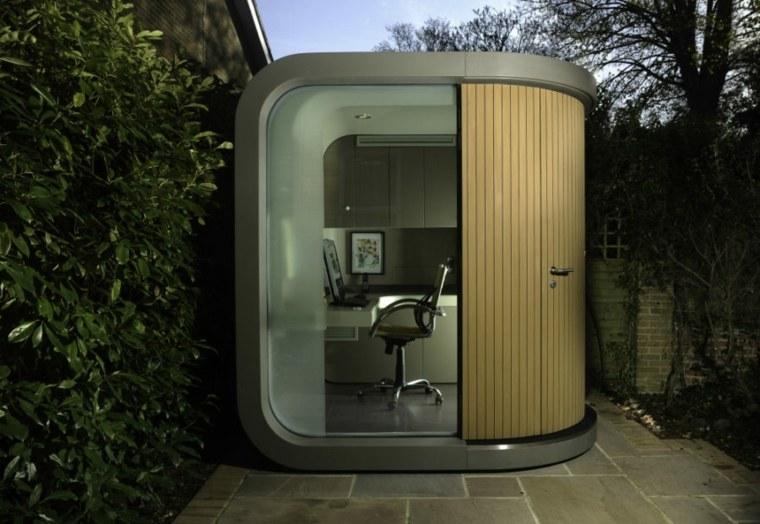 oficinas modernas jardin diseno futurista ideas