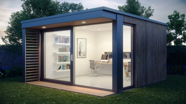 oficinas modernas jardin diseno moderno luminoso ideas